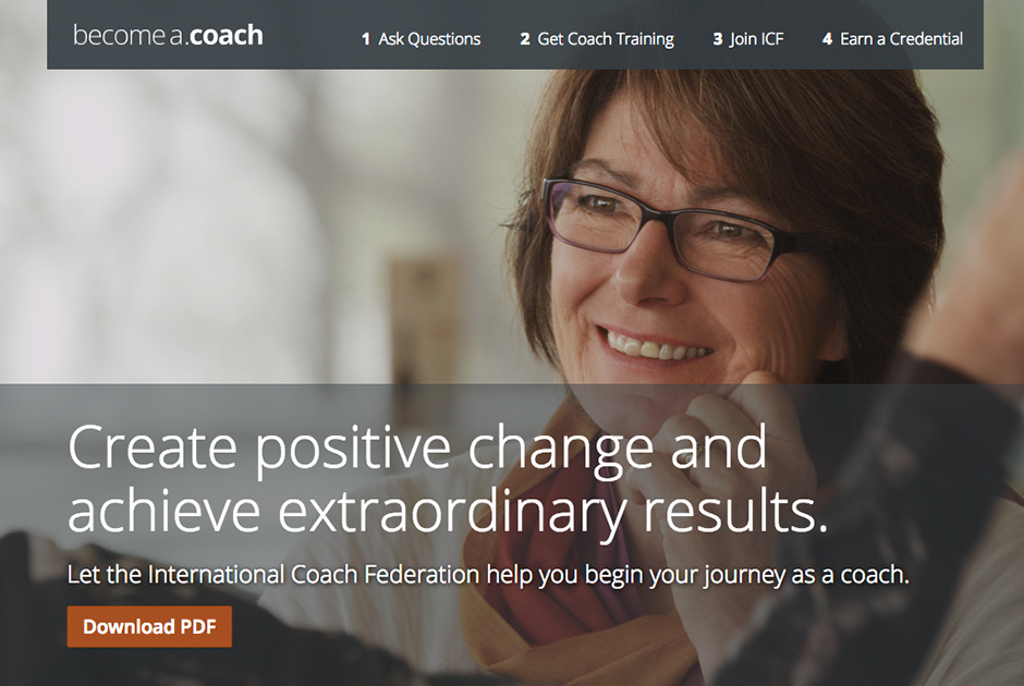 Become a Coach Microsite