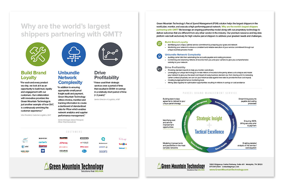 Green Mountain Technology Flyer by S. Wright Creative