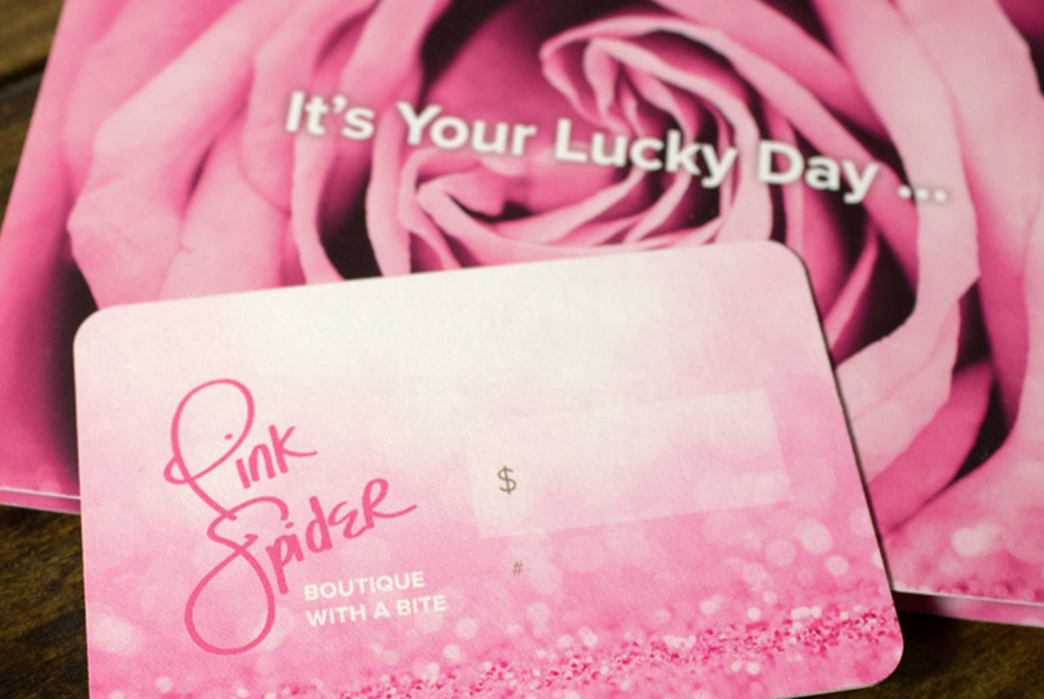 Pink Spider Gift Card